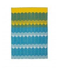 Koc / Narzuta z wełny EKKO od Normann Copenhagen - błękitny/żółty