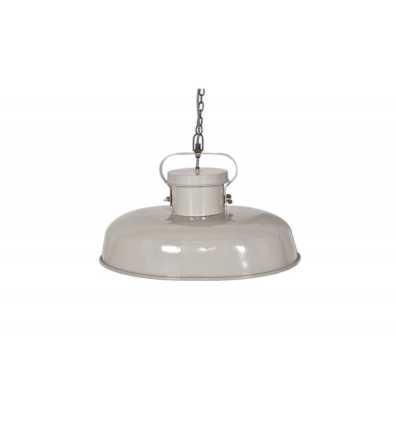 Lampa industrialna owalna Be Pure - jasnoszara / beżowa
