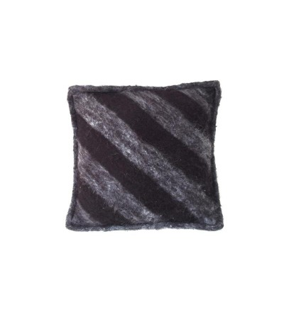 Poduszka wełniana w czarne pasy 50x50cm HK Living