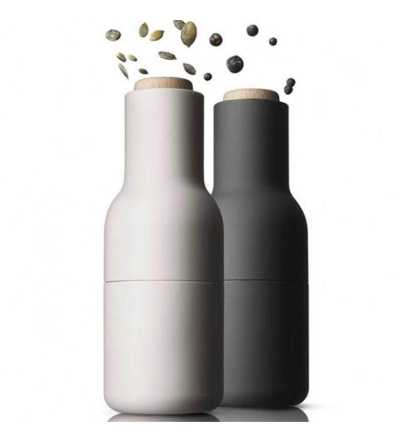 Zestaw małych młynków do soli, pieprzu, przypraw Bottle Grinders Menu - ash / carbon