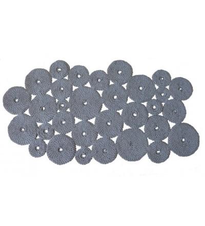 Asymetryczny dywan dziergany 90 x 170 cm - różne kolory