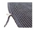 Okrągły dywan dziergany z bawełnianego sznurka - śr. 120 cm