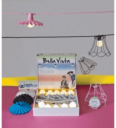 Abażury Cappello Seletti do lamp Bella Vista - niebieski, zestaw 10 szt.