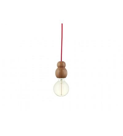 "Lampa wisząca ""WOODY SINGLE BUBBLES"" HOP Design"