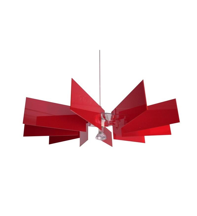 Lampa Al-verd R Kafti Design - czerwona