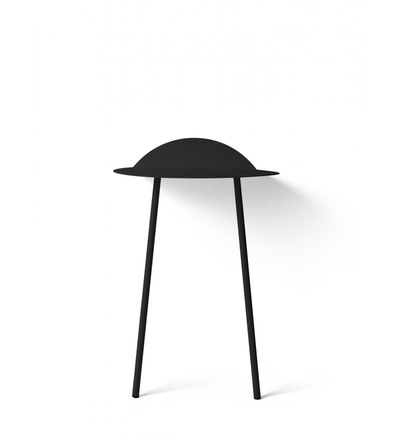 Stolik ścienny Yeh Menu - wysoki, czarny