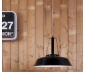 Przemysłowa emaliowana lampa wisząca HK LIVING - czarna S