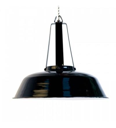 Przemysłowa emaliowana lampa Workshop L HK LIVING - czarna