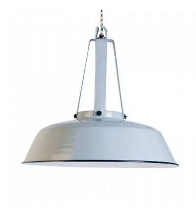 Przemysłowa emaliowana lampa Workshop L HK LIVING - biała