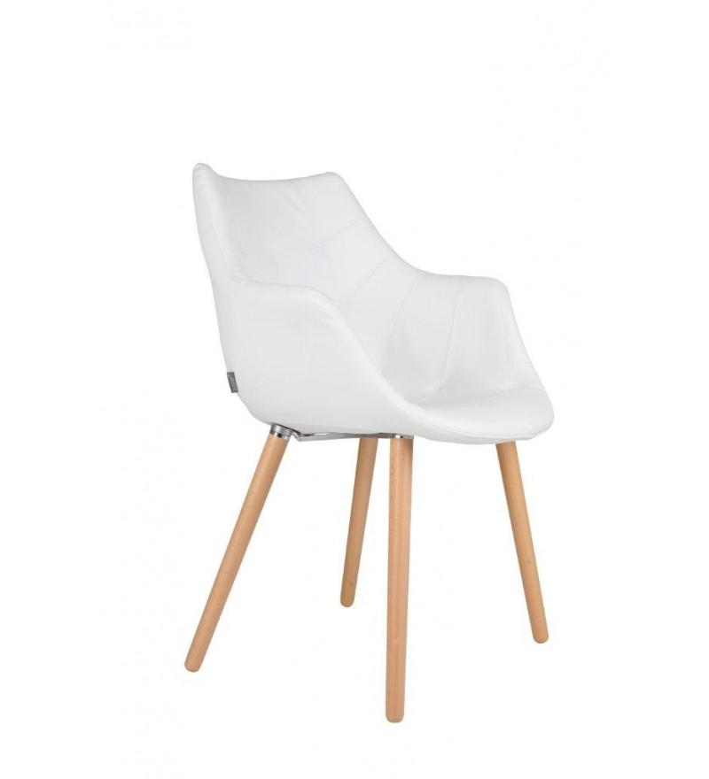 Krzesło tapicerowane Eleven / Twelve Zuiver białe