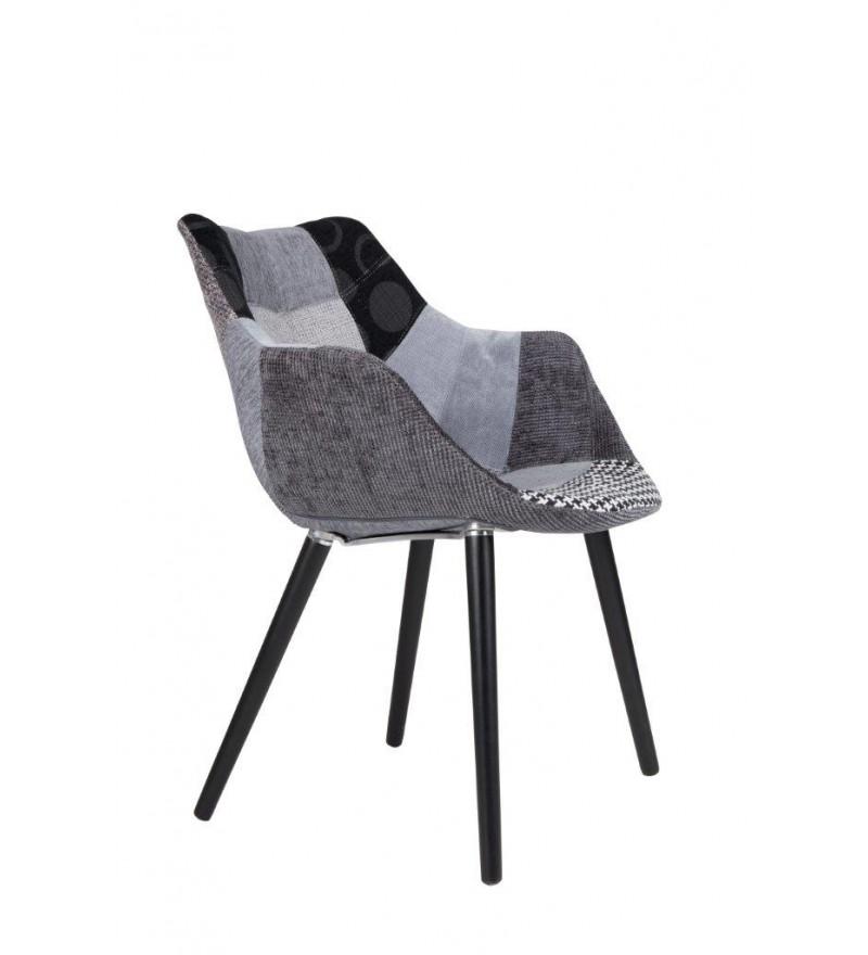 Krzesło tapicerowane Eleven / Twelve Patchwork Grey Zuiver