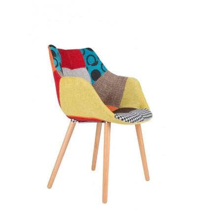 Krzesło tapicerowane Eleven / Twelve Patchwork Zuiver