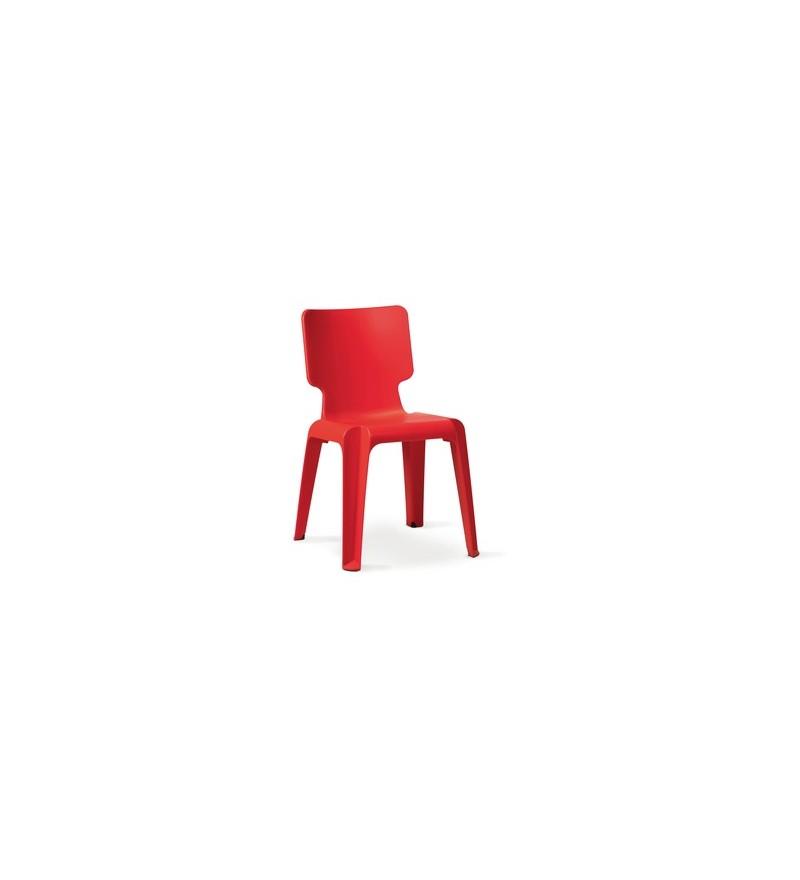 Krzesło Wait Authentics - czerwone