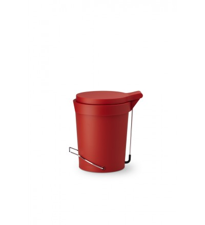 Kosz na śmieci Tip Authentics - 7 l, czerwony