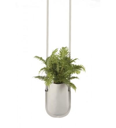 Wisząca donica Urban Garden Authentics - Ø 15 cm, beżowa