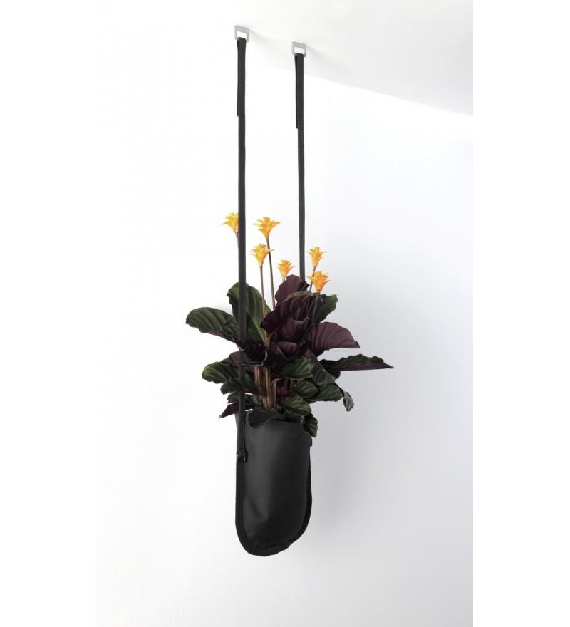 Wisząca donica Urban Garden Authentics - Ø 15 cm, czarna zieleń