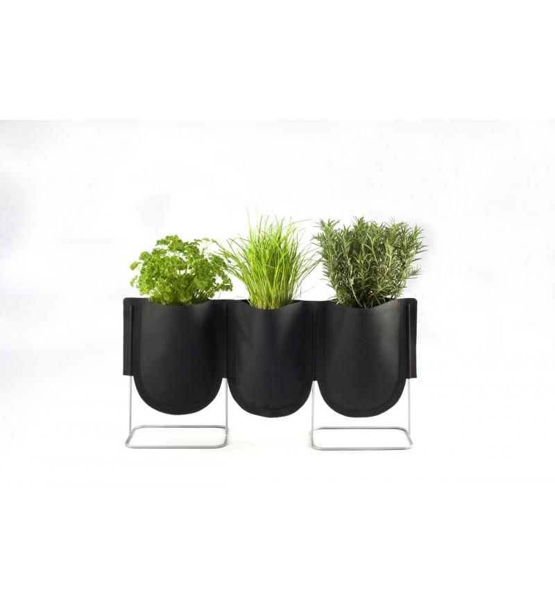 Donica Urban Garden Authentics - Ø 9 cm, czarna zieleń