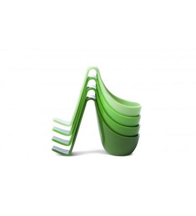 4 kieliszki do jajek Eiko Authentics - zielone