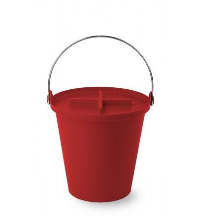 Kosz na śmieci H2O 13 l Authentics - czerwony