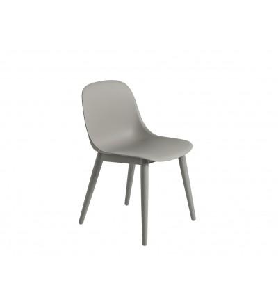 Krzesło na drewnianej podstawie Fiber Side Chair Wood Base Muuto - różne kolory