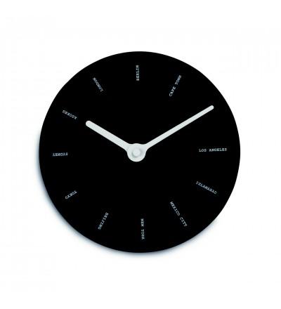 Zegar ścienny World time Authentics - czarny