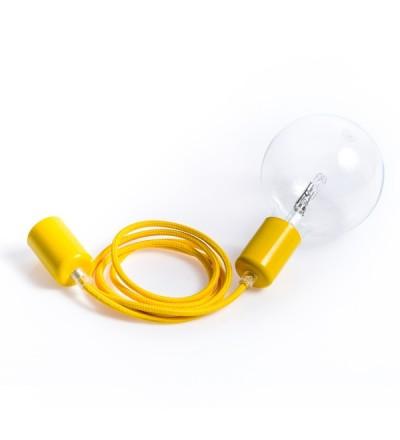Lampa Loft Metal Line Kolorowe Kable - hiszpańska cytryna