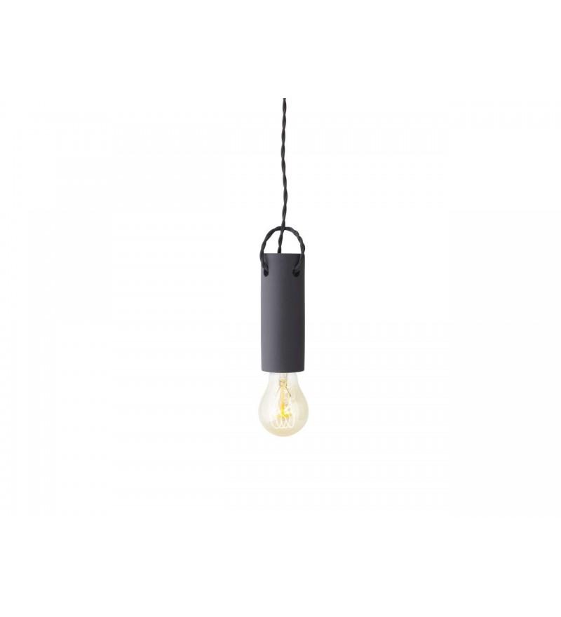Lampa wisząca z betonu Tied Menu - czarna / carbon