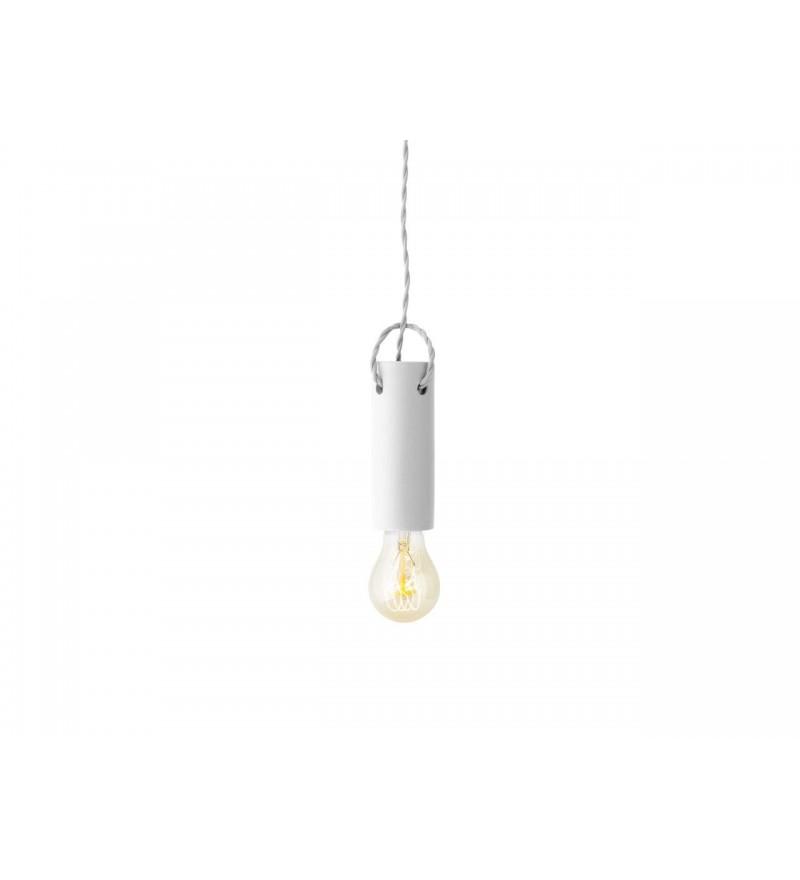 Lampa wisząca z betonu Tied Menu - biała