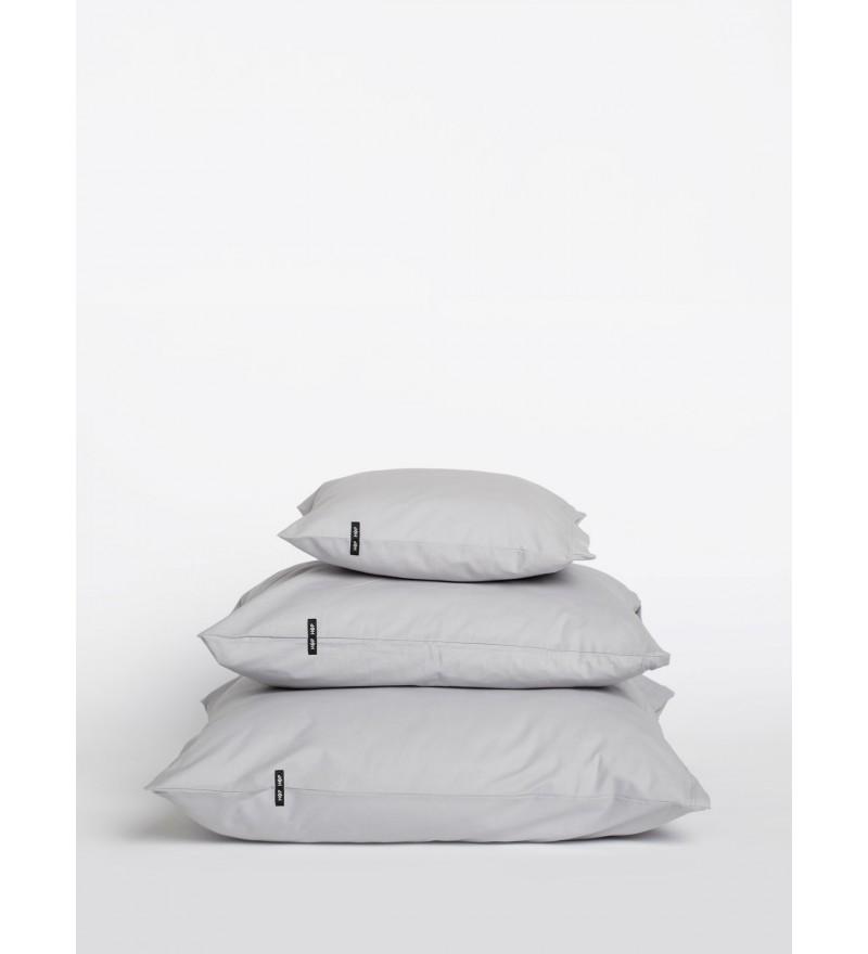2x poszewka na poduszkę Pure HOP DESIGN czysta bawełna płótno jasnoszare