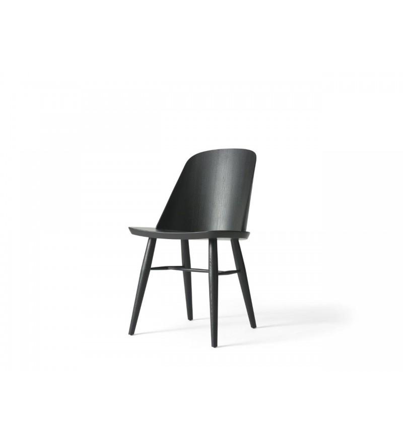Krzesło drewniane Synnes Menu - czarny jesion