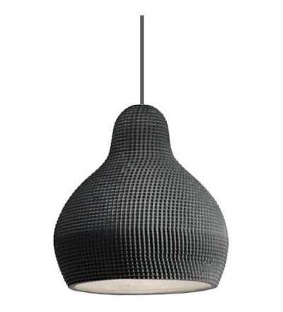 Lampa wisząca z porcelany 144dpi Industreal Design - czarna