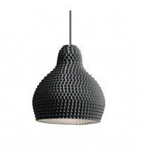 Lampa wisząca z porcelany 72dpi Industreal Design - czarna