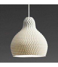 Lampa wisząca z porcelany 72dpi Industreal Design - biała