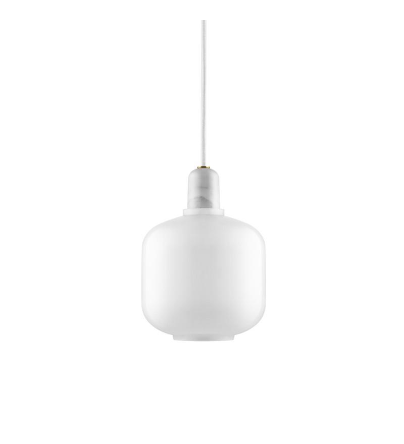 Lampa AMP Normann Copenhagen - biała, wysokość 17 cm