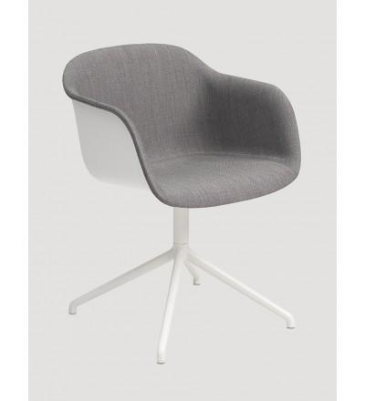 Fotel tapicerowany na podstawie krzyżakowej Fiber Armchair FRONT Swivel Base w. o. return Muuto - różne kolory