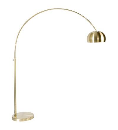 Lampa podłogowa METAL BOW White Label Living - mosiężna