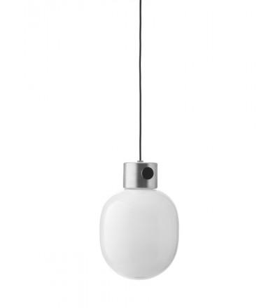 Lampa wisząca ze szczotkowanej stali JWDA Menu