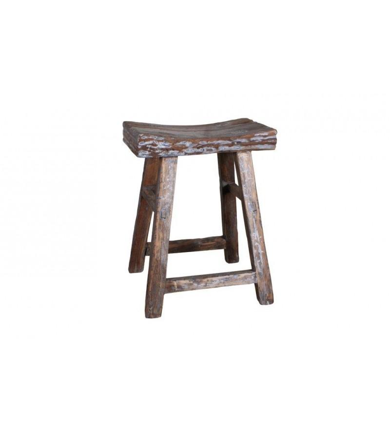 Stołek z odzyskanego drewna teakowego od HK Living