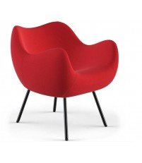 Fotel tapicerowany RM58 Soft H VZÓR - tkanina STEP, na nóżkach