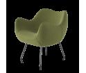 Fotel RM58 Soft VZÓR - kolekcja tkanin MEDLEY, na nóżkach