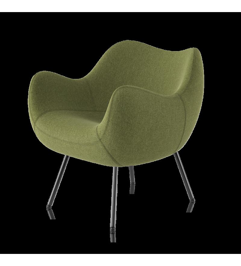 Fotel tapicerowany RM58 Soft H VZÓR - tkanina MEDLEY, na nóżkach