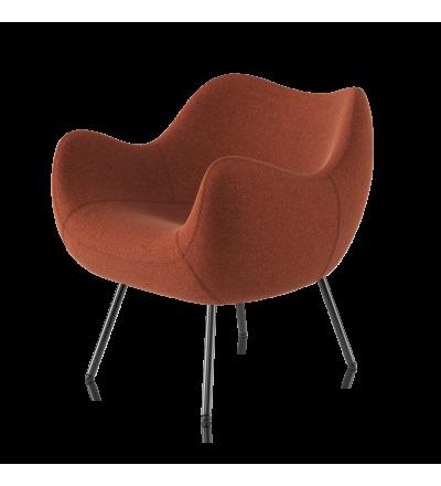 Fotel tapicerowany RM58 Soft H VZÓR - tkanina ULTIMA, na nóżkach