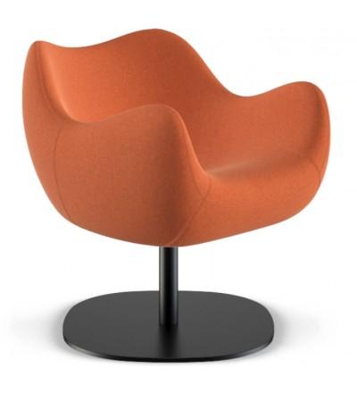 Fotel tapicerowany RM58 Soft R VZÓR - tkanina ULTIMA, podstawa talerzowa