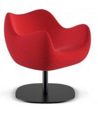 Fotel tapicerowany RM58 Soft R VZÓR - tkanina STEP, podstawa talerzowa