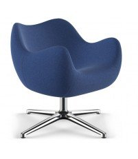 Fotel RM58 Soft VZÓR - kolekcja tkanin ULTIMA, podstawa krzyżakowa