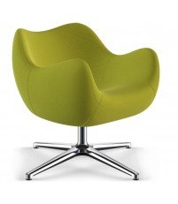Fotel RM58 Soft VZÓR - kolekcja tkanin STEP, podstawa krzyżakowa