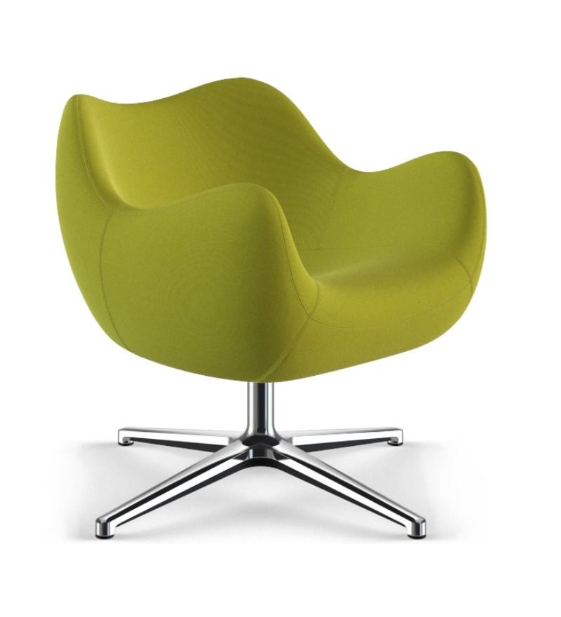 Fotel tapicerowany RM58 Soft F VZÓR - tkanina STEP, podstawa krzyżakowa
