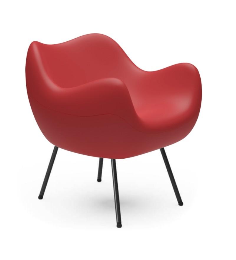 Fotel RM58 Mat VZÓR - czerwony