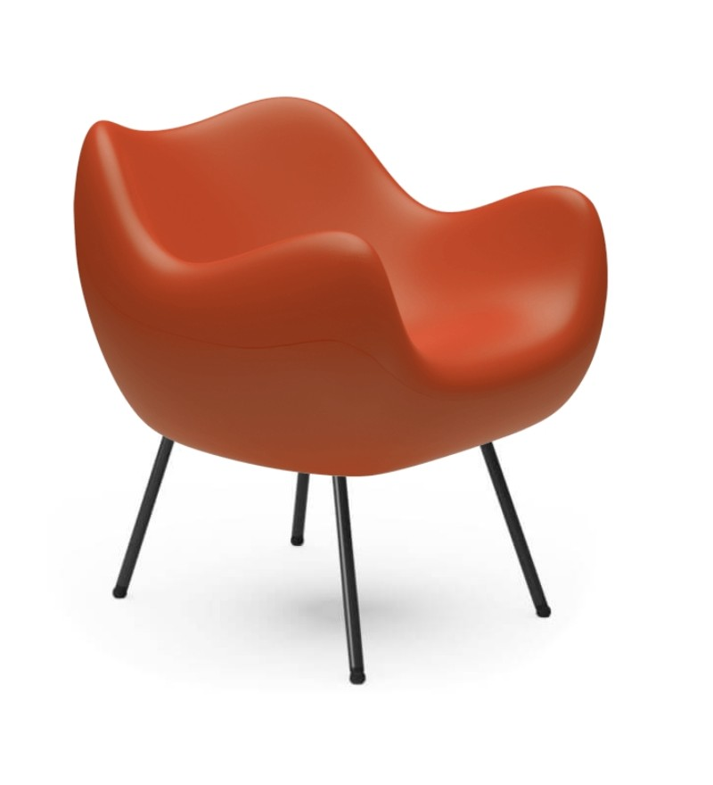 Fotel RM58 Mat VZÓR - pomarańczowy