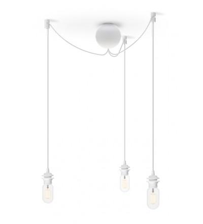 Potrójne zawieszenie do lamp Cannonball Cluster 3 UMAGE - białe